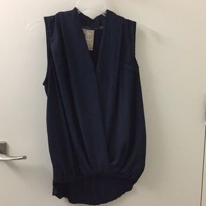 Navy blue blouse from anthropologie, size XS